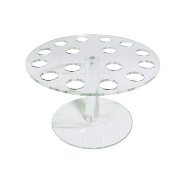 16-Capacity Clear Acrylic Ice Cream Cone Sushi Hand Roll Stand Holder Palette Display Stand for Buffet Wedding Display - 3CM