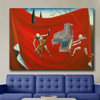 Music The Red Orchestra, 1957 - Salvador Dali Canvas Painting For Living Room Home Decor Oil Painting On Canvas Wall Art