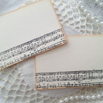 Sheet Music Place Cards Food Buffet Label Tags Set of 10