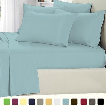Microfiber 4-Piece Bed Sheet Set with 16-Inch Deep Pocket,