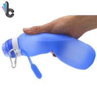 Creative Water Bottle Foldable Silicone Outdoors Traveling Sport Cycling Kettle Drinkware