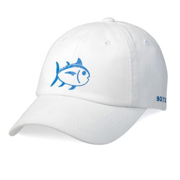 Printed Skipjack Hat in White by Southern Tide