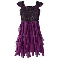 Disney D-Signed Lace & Ruffle Skater Dress - Girls