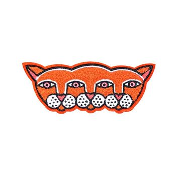 Four Eyes Fox Large Chenille Patch