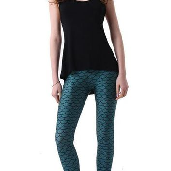 Europe and the United States digital printing Leggings snake pattern fashion trends
