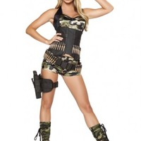 5 PC Army Babe Costume @ Amiclubwear costume Online Store,sexy costume,women's costume,christmas costumes,adult christmas costumes,santa claus costumes,fancy dress costumes,halloween costumes,halloween costume ideas,pirate costume,dance costume,costu