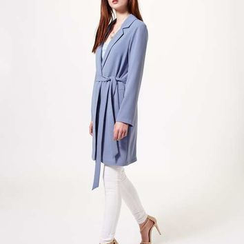 Blue Lightweight Duster