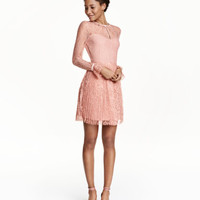 H&M Long-sleeved Lace Dress $69.99