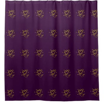 Heart Drawing Shower Curtain
