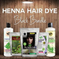 Henna Hair Dye - Black Bundle with Shampoo & Conditioner