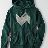 AEO Graphic Pullover Hoodie, Green