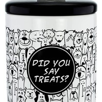 Pet Treats Ceramic Canister