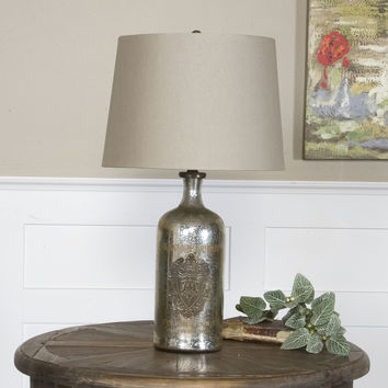 Uttermost Borel Antique Glass Table Lamp