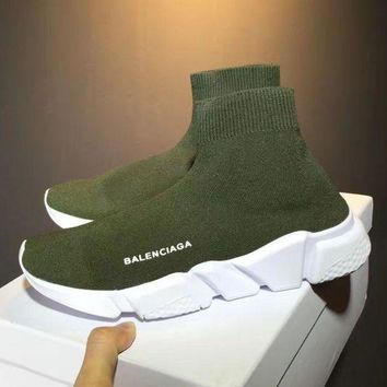 Green Balenciaga Woman Men Fashion Sport Sneakers Shoes