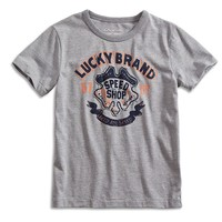 Lucky Brand Speed Shop Tee Boys - Charcoal