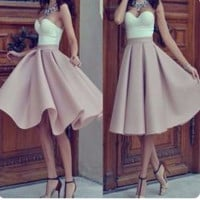Skirt High Waist Pleated Dress Loudspeaker [10390721229]