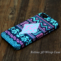 Native American Custom Monogram 3D-Wrap iPhone 5S Case iPhone 5 Case iPhone 5C Case iPhone 4S Case iPhone 4 Case