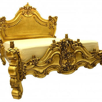 Fabulous  Baroque — Royal Fortune Montespan Bed - Gold Leaf