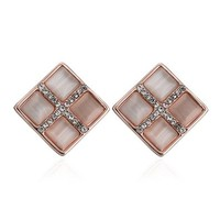 MLOVES Women's Classical Korean Style Prismatic Opals Ear Cuffs