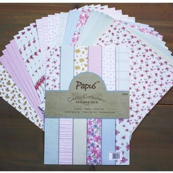 DIY Photo Album Flower   Decorative  Scrapbooking Papers  Crafts Art Card   A4  Single Side Printed 30 Sheets / Set