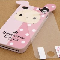 Sentimental Circus bunny iPhone 4S /4 silicone case - Cellphone Accessories - Accessories