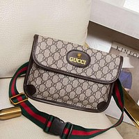 Gucci Popular Women Leather Zipper Shopping Crossbody Shoulder Bag Satchel I-BCZ(CJZX)
