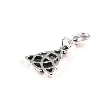 Celtic Knot Purse Charm Triquetra Zipper Pull Handmade