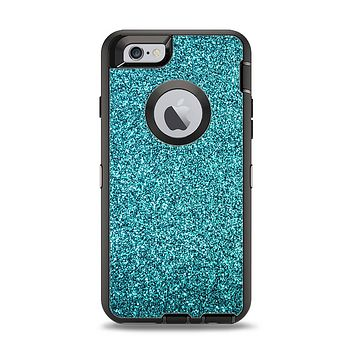 The Teal Glitter Ultra Metallic Apple iPhone 6 Otterbox Defender Case Skin Set