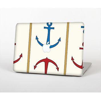 The Blue and Red Simple Anchor Pattern Skin for the Apple MacBook Air 13""