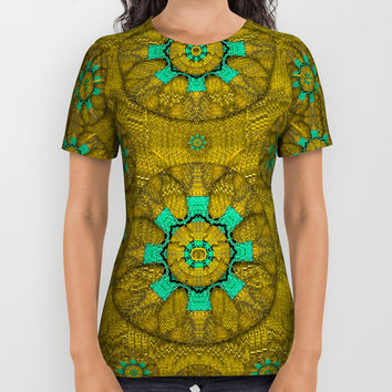 sunshine and flowers in life pop art All Over Print Shirt by Pepita Selles