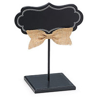 Decor Blank Chalkboard Wedding Sign with Stand