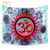 ROMORUS Fire Rose Hippie Wall Tapestry Indian Wall Hanging Boho Tapestry Bed Table Cloth Wearable blanket Yoga Mat Free Shipping