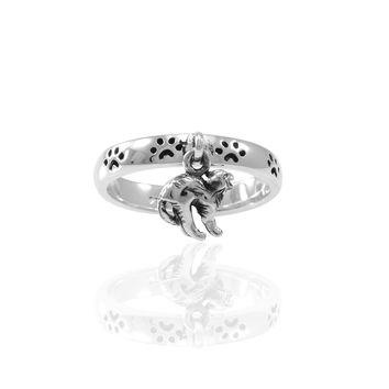 Cat Witches Familiar Pawprint Ring TRI1561