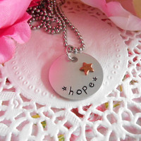 Hope Necklace With Stars