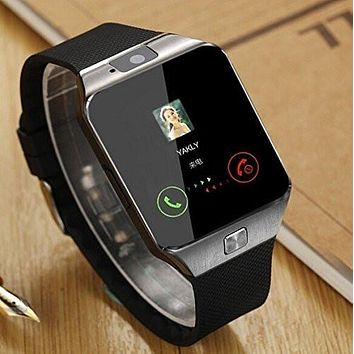 Smartwatch + Unlocked Watch Cell Phone All in 1 Bluetooth Watch for iPhone Android Samsung Galaxy Note,Nexus,htc,Sony Black