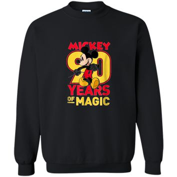 Disney Mickey Mouse 90 years of Magic  Printed Crewneck Pullover Sweatshirt