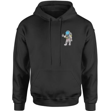 Embroidered Astronaut in a Space Suit Patch (Pocket Print) Adult Hoodie Sweatshirt