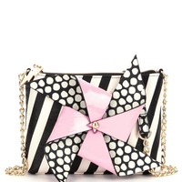 Betsey Johnson Pinwheel Striped & Dotted Cross-Body Bag | Dillards