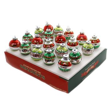 Shiny Brite HS DECORATED ROUNDS Glass Holiday Splendor Ornaments 4027558