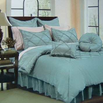 16pc Riviera Aqua  Comforter Set Size: King
