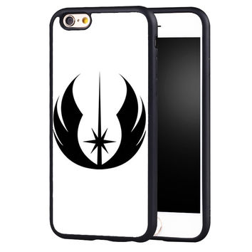 Star Wars Black Jedi Printed Protective Soft TPU Skin Mobile Phone Cases For iPhone 6 6S Plus SE 5 5S 5C 4 4S Back Shell Cover