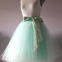 Mint green tulle skirt, tutu skirt,made to your size
