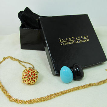 JOAN RIVERS Interchangeable Pendant Necklace in Original Box
