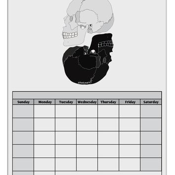 White And Black Inverted Skulls Blank Calendar Dry Erase Board by TooLoud
