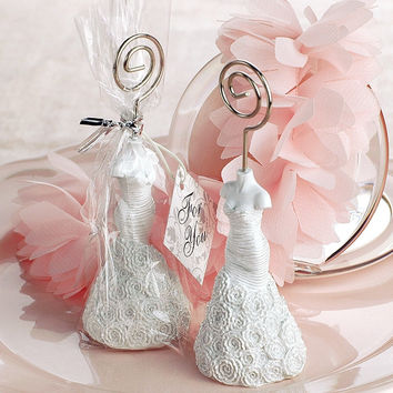 Wedding Dress Place Card Holders