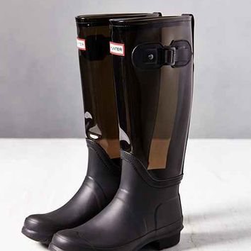 Hunter Original Clear Rain Boot- Slate