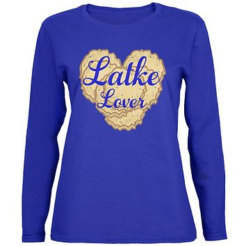 Hanukkah Latke Lover Womens Long Sleeve T Shirt