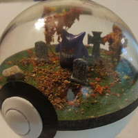 Pokemon Diorama, Graveyard Theme (Large)