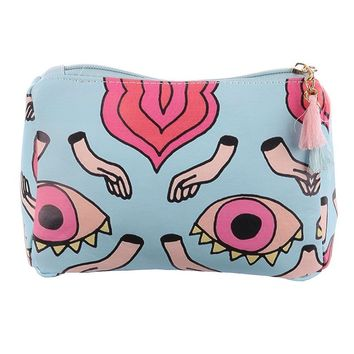 Eyes Hands Print Vinyl Pouch Wallet Bag Accessory 247