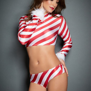 Sweet Like Candy Stripe L/S Top & Panties